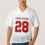 Scarlet Red and Gray Football Sports Jersey