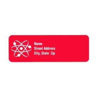 Scarlet Red; Atom Label