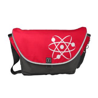 Scarlet Red; Atom Messenger Bag
