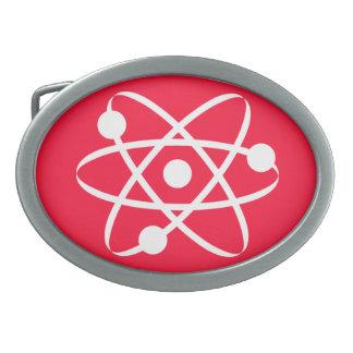 Scarlet Red; Atom Oval Belt Buckle