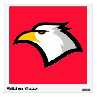 Scarlet Red; Bald Eagle Room Sticker