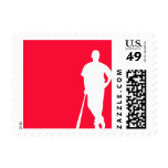 Scarlet Red Baseball; Softball Postage Stamps