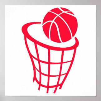 Scarlet Red Basketball Poster