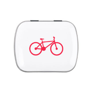Scarlet Red Bicycle Jelly Belly Candy Tins