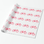 Scarlet Red Bicycle Gift Wrapping Paper