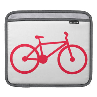 Scarlet Red Bicycle Sleeve For iPads