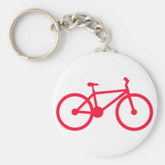 Scarlet Red Bicycle Keychain