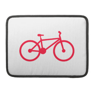 Scarlet Red Bicycle MacBook Pro Sleeve