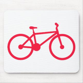 Scarlet Red Bicycle Mousepad