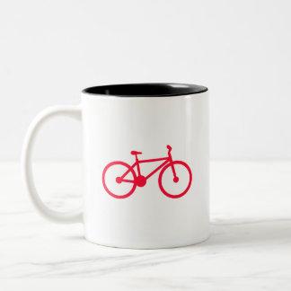Scarlet Red Bicycle Two-Tone Coffee Mug