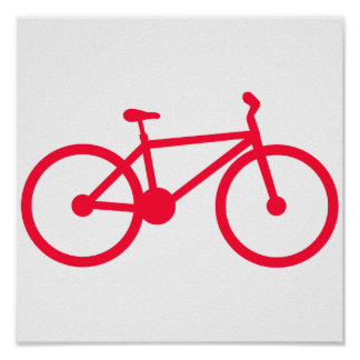 Scarlet Red Bicycle Poster