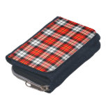 Scarlet Red, Black and White Sporty Plaid Wallet