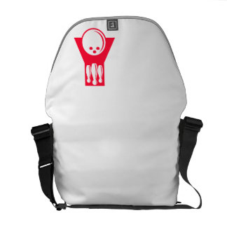 Scarlet Red Bowling Courier Bag
