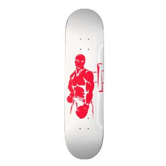 Scarlet Red Boxing Skateboard Deck