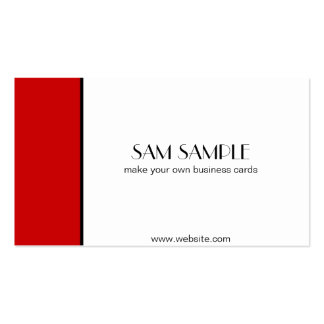 Scarlet Red Business Cards