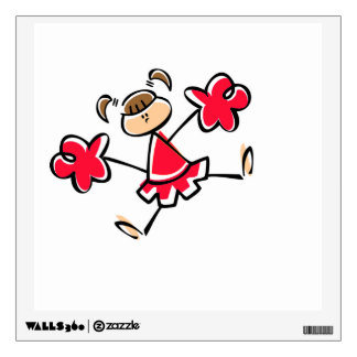 Scarlet Red Cheerleader Wall Sticker