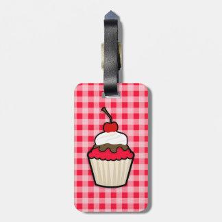 Scarlet Red Cupcake Luggage Tag