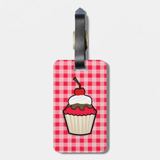 Scarlet Red Cupcake Tag For Luggage