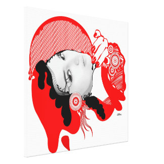 Scarlet Red Diva Canvas Print
