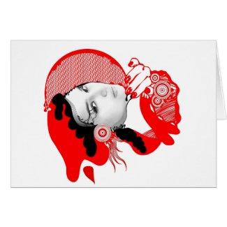 Scarlet Red Diva Card