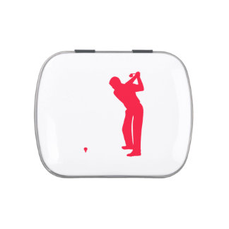 Scarlet Red Golf Candy Tin