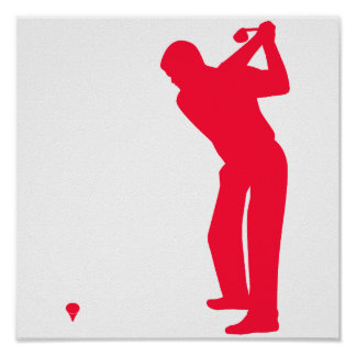 Scarlet Red Golf Print