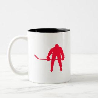 Scarlet Red Hockey Two-Tone Coffee Mug