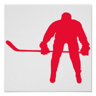 Scarlet Red Hockey Poster