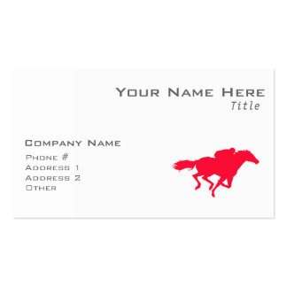Scarlet Red Horse Racing Double-Sided Standard Business Cards (Pack Of 100)