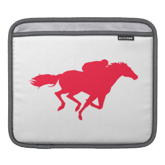 Scarlet Red Horse Racing Sleeve For iPads
