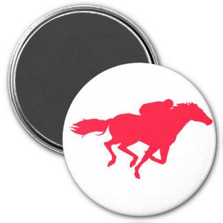 Scarlet Red Horse Racing Fridge Magnet