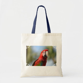 Scarlet Red Macaw Tote Bags