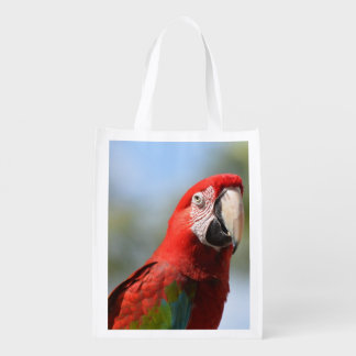 Scarlet Red Macaw Reusable Grocery Bag