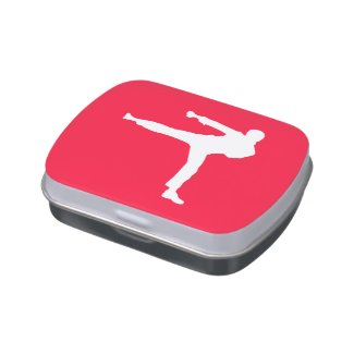 Scarlet Red Martial Arts Jelly Belly Tin