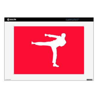 Scarlet Red Martial Arts Laptop Skin