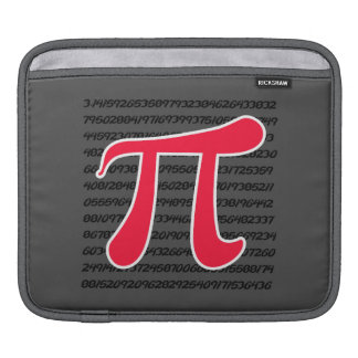 Scarlet Red Pi Symbol Sleeves For iPads