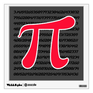 Scarlet Red Pi Symbol Wall Graphic
