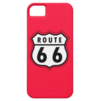 Scarlet Red Route 66 road sign iPhone 5 Cover