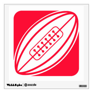 Scarlet Red Rugby Wall Decal