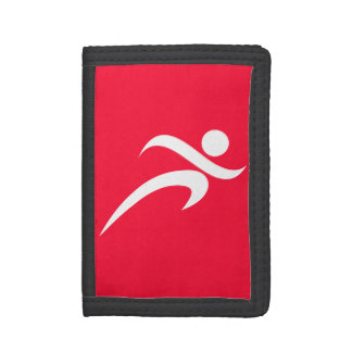 Scarlet Red Running Trifold Wallet