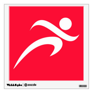 Scarlet Red Running Room Decal