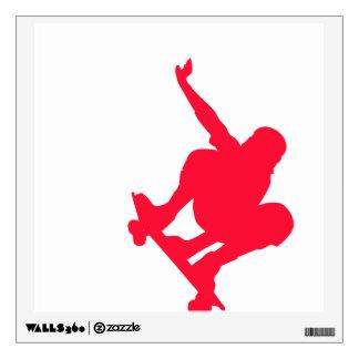 Scarlet Red Skater Wall Decor
