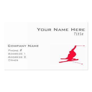 Scarlet Red Snow Ski Business Cards
