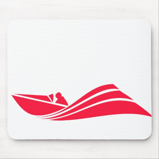 Scarlet Red Speed Boat Mousepads