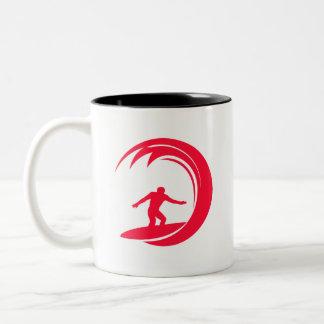 Scarlet Red Surfing Coffee Mug