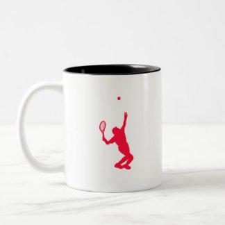 Scarlet Red Tennis Two-Tone Coffee Mug