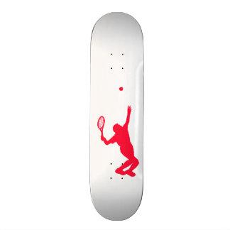 Scarlet Red Tennis Skate Board Deck
