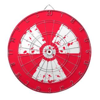 Scarlet Red Toxic radioactive symbol Dartboard
