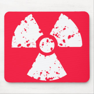 Scarlet Red Toxic radioactive symbol Mouse Pad