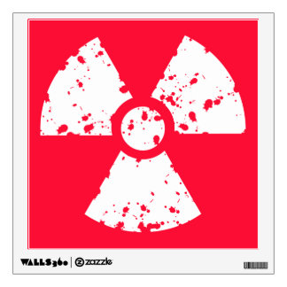 Scarlet Red Toxic radioactive symbol Wall Sticker